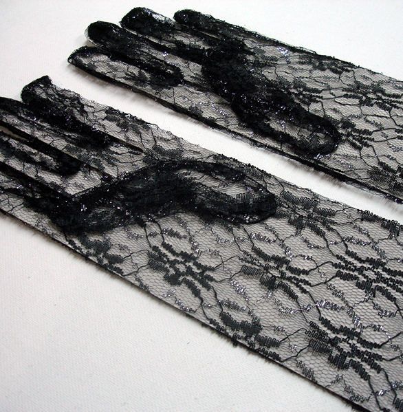 Black lace glove