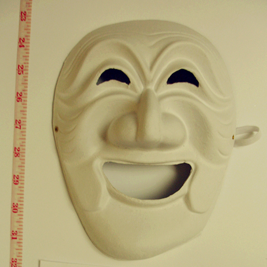 Blank laughing mask