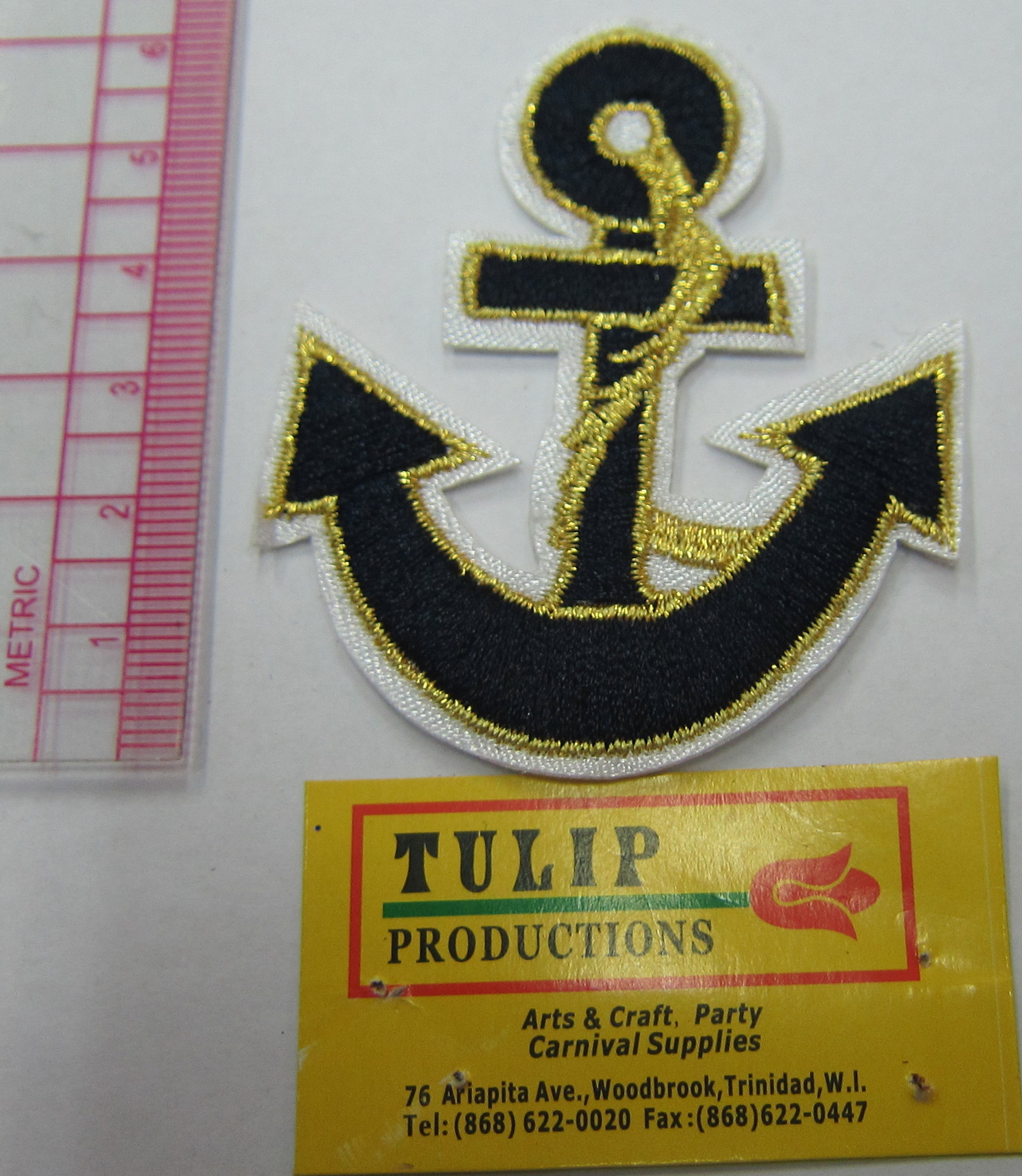 Black Anchor & Gold Rope